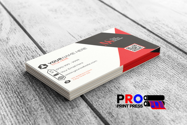 custom Business Card Design template done by Pro Print Press
