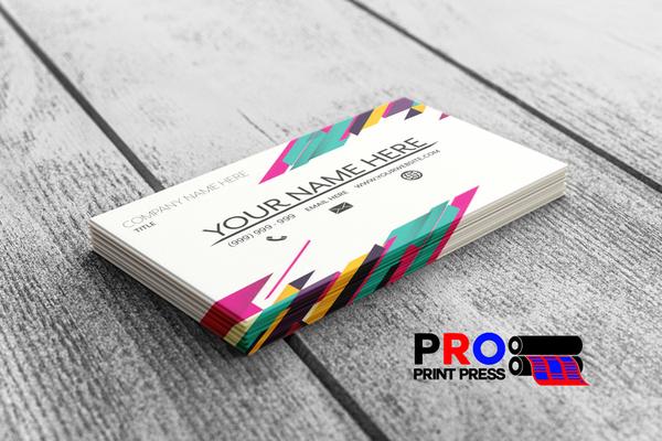 Image of a custom printed Designed Business Card